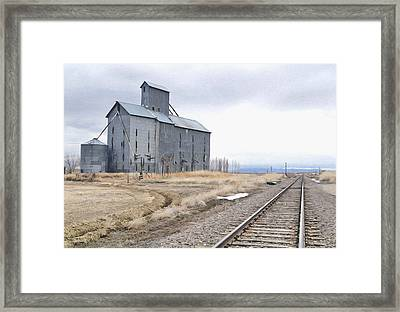 Grain Mill In Loveland Co. Framed Print by James Steele
