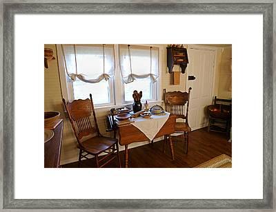 Grammys Kitchen Table Framed Print by Carmen Del Valle