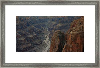 Grand Canyon-aerial Perspective Framed Print by Douglas Barnard