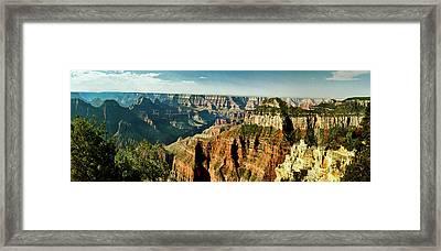 Grand Canyon Angel Panorama Framed Print by Bob and Nadine Johnston