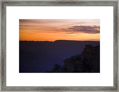 Grand Canyon Bathed In Blue Framed Print by Andrew Soundarajan