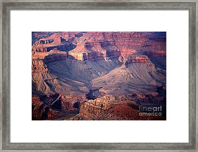 Grand Canyon Evening Interior Framed Print by Michael Kirsh