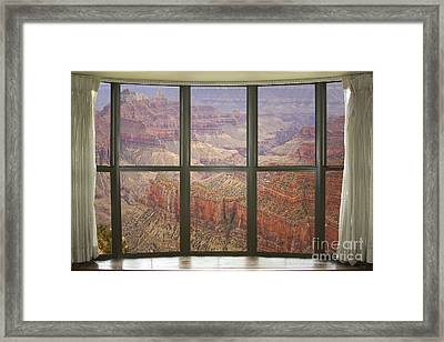 Grand Canyon North Rim Bay Window View Framed Print by James BO  Insogna