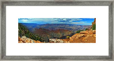 Grand Canyon Panoramic View Framed Print by Gene Sherrill