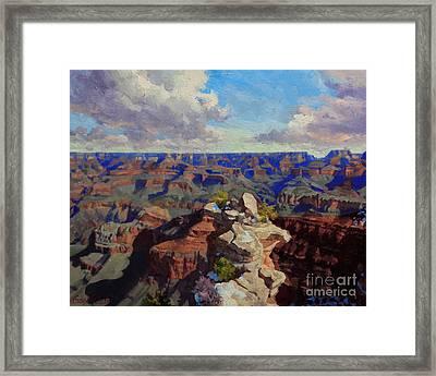 Grand Canyon South Rim Framed Print by Gary Kim