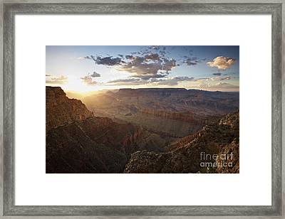Grand Canyon, West Of Lipan Point Framed Print by Terry Moore