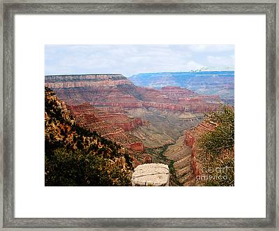 Grand Canyon With Smoke Framed Print by The Kepharts