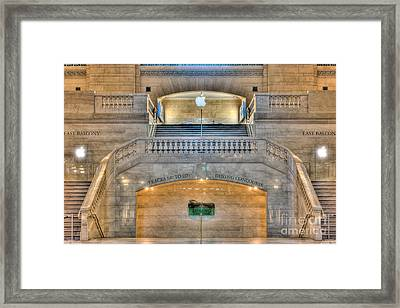 Grand Central Terminal East Balcony I Framed Print by Clarence Holmes
