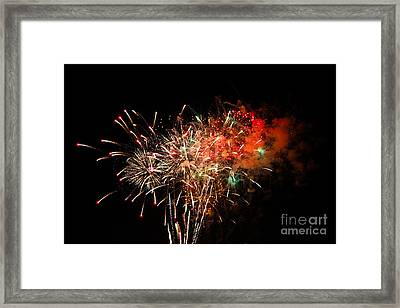Grand Haven Mi Fireworks Framed Print by Robert Pearson