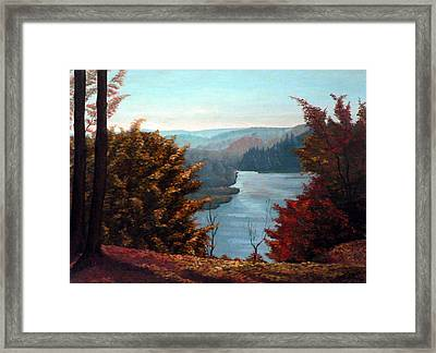 Grand River Look-out Framed Print by Hanne Lore Koehler
