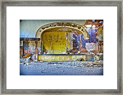 Grande Ballroom Stage Framed Print by Cindy Lindow