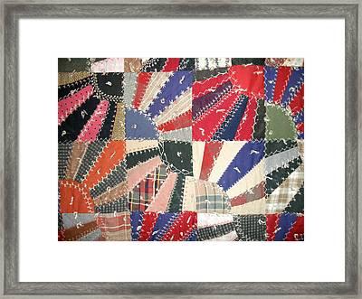 Grandma Baird's Quilt Framed Print by Wayne Potrafka