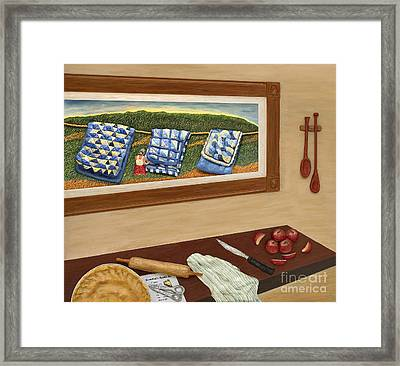 Grandma's Apple Pie Framed Print by Anne Klar