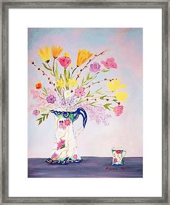 Grandma's Chocolate Set Framed Print by Alanna Hug-McAnnally