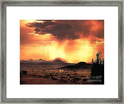 Granite Mountain Framed Print by Arne Hansen