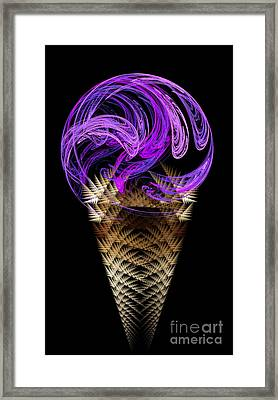 Grape Ice Cream Cone Framed Print by Andee Design