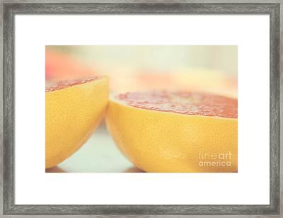 Grapefruit Framed Print by Kim Fearheiley