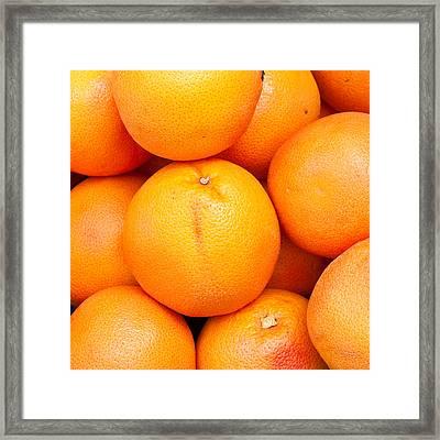 Grapefruit Framed Print by Tom Gowanlock