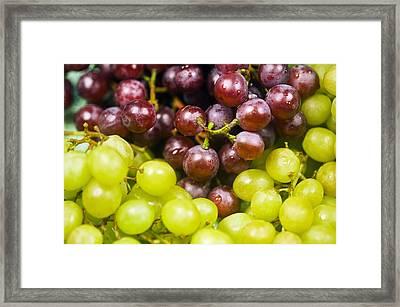 Grapes Framed Print by Bill Brennan