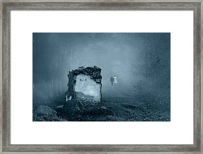 Grave In A Forest Framed Print by Jaroslaw Grudzinski