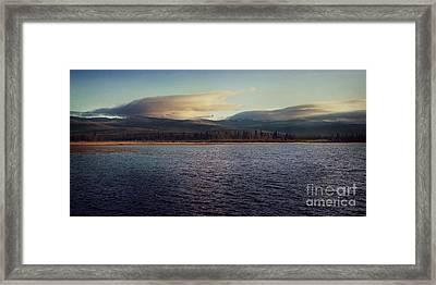Gravel Lake Framed Print by Priska Wettstein