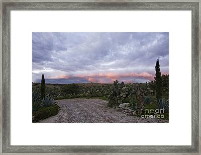 Gravel Road In Rural Area Framed Print by Jeremy Woodhouse