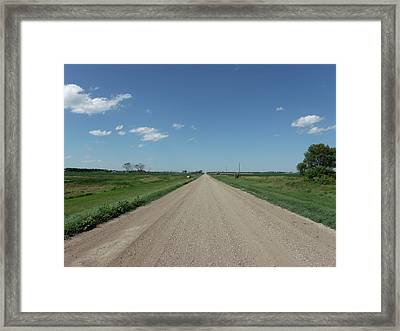 Gravel Road To Nowhere Framed Print by Brian  Maloney