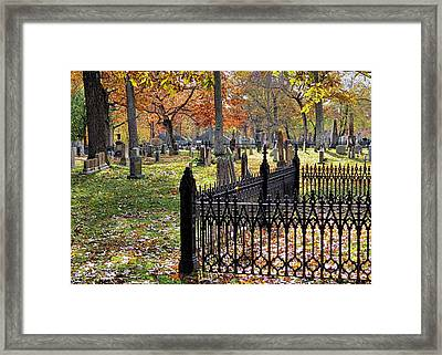 Gravestones Framed Print by Janice Drew