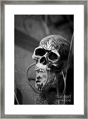 Graveyard  Framed Print by Leslie Leda