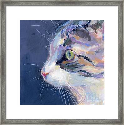 Gray Framed Print by Kimberly Santini