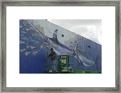 Gray Taxidermy Mural Framed Print by Carey Chen