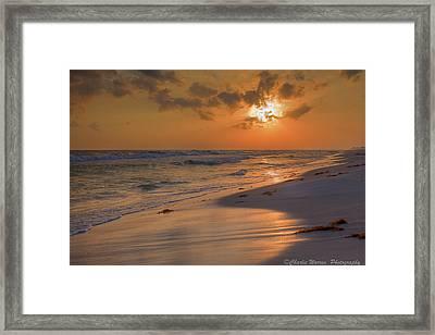 Grayton Beach Sunset 7 Framed Print by Charles Warren