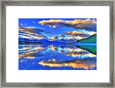 Great Glacier Lake Framed Print by Scott Mahon