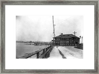 Great Head Yacht Club  Framed Print by Extrospection Art