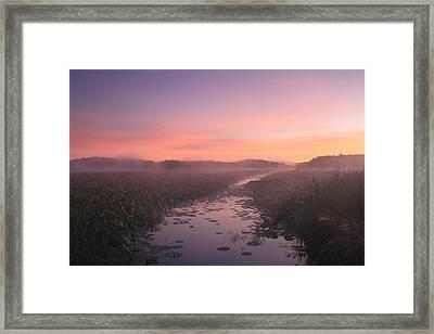Great Meadows National Wildlife Refuge Dawn Framed Print by John Burk