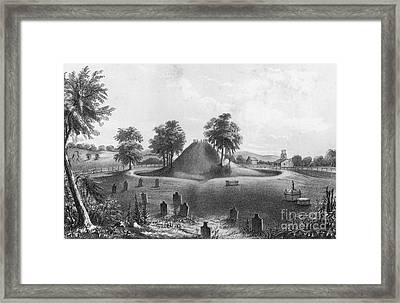 Great Mound At Marietta, 1848 Framed Print by Photo Researchers
