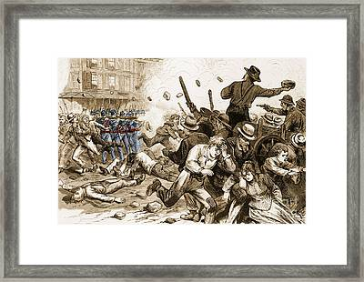 Great Railroad Strike 1877 Framed Print by Photo Researchers