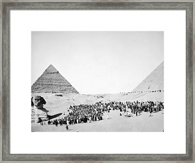Great Sphinx And Pyramids Framed Print by Granger