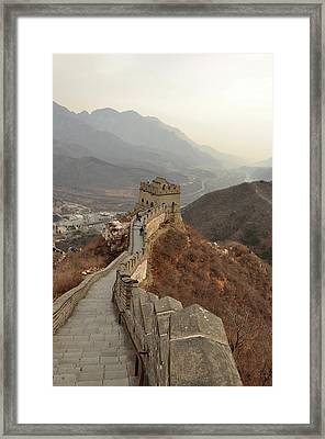 Great Wall Of China Framed Print by Asifsaeed313
