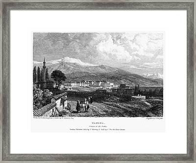 Greece: Yanina, 1833 Framed Print by Granger