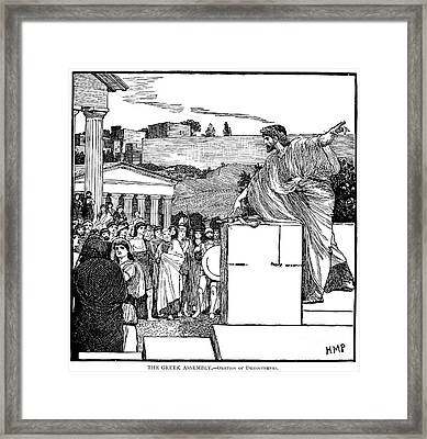 Greek Assembly Framed Print by Granger