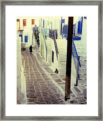 Greek Island Framed Print by Ranjini Kandasamy