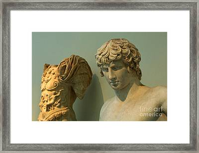 Greek Statue Of A Young Soldier Framed Print by Bob Christopher