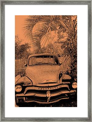 Greeks Truck Framed Print by Gerald Cooley
