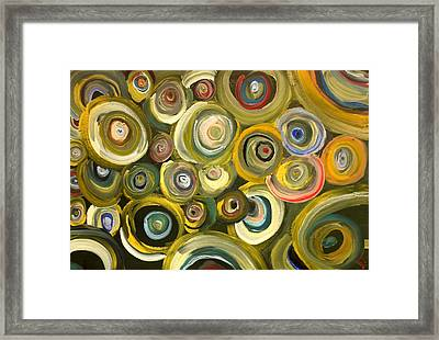 Green Abstract Feeling Framed Print by Draia Coralia