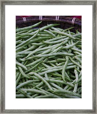 Green Beans Framed Print by David Buffington