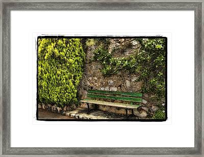 Green Bench Framed Print by Mauro Celotti