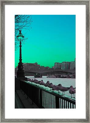 Green Day In London Framed Print by Jasna Buncic