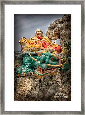 Green Dragon  Framed Print by Adrian Evans