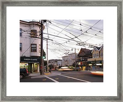 Green Earth Foods - San Francisco Framed Print by Daniel Hagerman